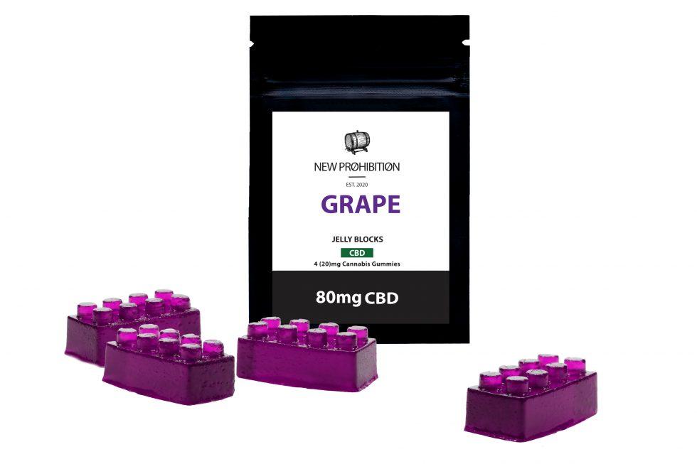 Grape CBD Jelly Block